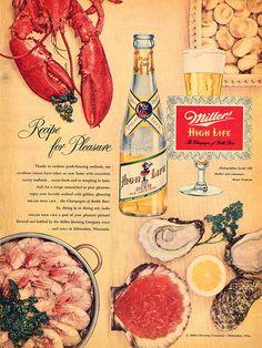 Miller Beer Ad, 1953