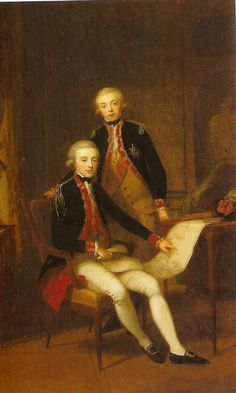 Young King William I, and his brother, pince Frederick, around 1790.
