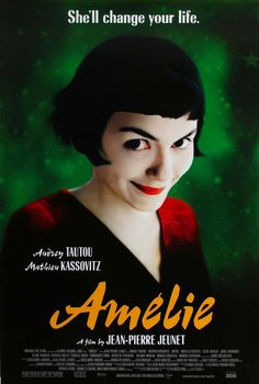 Amelie. A wonderfully whimsical and life-affirming comedy starring Audrey Tautou.