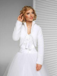 WEDDING / BRIDAL - FAUX FUR SHRUG / BOLERO / JACKET / COAT XS S M L XL XXL -B39   eBay 30 GBP