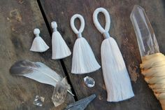 Pure White, You Dye It, DIY, Handmade Cotton Tassels, Assorted Sizes / Ready To Dye, Designer Quality, Jewelry Making, Charm, Supply