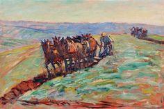 René SEYSSAUD (1867-1952) Laboureurs Huile sur toile signée en bas à droite Van Gogh, Les Oeuvres, Provence, German, Gallery, Painting, Fauvism, Oil On Canvas, Fine Art Paintings