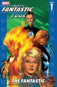 Read the complete Ultimate Fantastic Four series in this incredible bundle! See the origins of the Ultimate Universe's Fantastic Four and mark their adventures as they face off against Dr. Doom, the Marvel Zombies, Thanos and more! Fantastic Four Logo, Fantastic Four Villains, Fantastic Four Comics, Marvel Comic Books, Marvel Characters, Marvel Marvel, Captain Marvel, Collection Marvel, Comic Shop