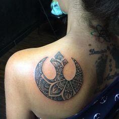 Custom rebel alliance tattoo done by @tattoos_by_braiden  #aztattooer #aztattoo…