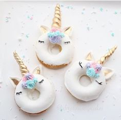 Unicorn donuts for birthday
