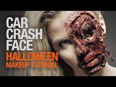 Car crash face (or zombie) fx makeup tutorial - YouTube