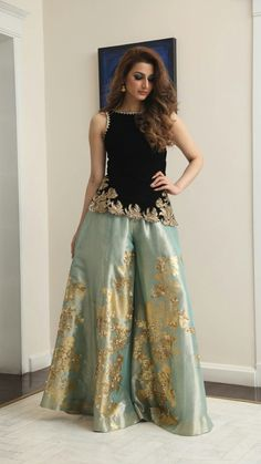 Pakistani formal dresses · colors & crafts boutique™ offers unique apparel and jewelry to women who value versatility, Pakistani Formal Dresses, Pakistani Wedding Outfits, Pakistani Dress Design, Indian Dresses, Indian Outfits, Indian Designer Outfits, Designer Dresses, Look Fashion, Indian Fashion