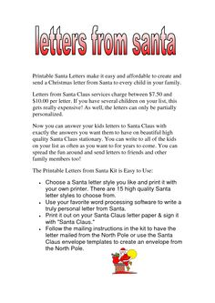 8 Best Christmas Letters Images Christmas Letter Template