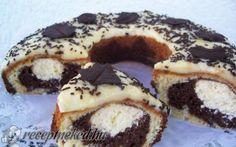 Harmat cseppek koszorúban recept fotóval Ring Cake, Sweet Cookies, Scones, Doughnut, Nutella, Cookie Recipes, Sweet Tooth, Cheesecake, Muffin