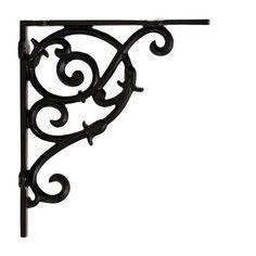iron shelf bracket black powder coat finish 899 see more restorers tulip scroll small shelf bracket pair