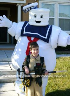 Homemade Ghostbusters Costume... This website is the Pinterest of costumes