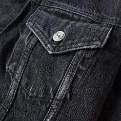 Acne Studios Who Denim Jacket (Vintage Black)   END.