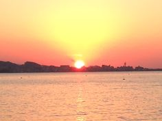 小戸公園から見える夕陽