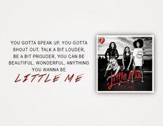 Little Me x Little Mix Lyrics, Jade Amelia Thirlwall, Little My, Girl Humor, Music Lyrics, Jukebox, Mixer, Skincare, Songs