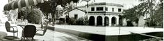 A composite panorama of the infamous pool at the Garden of Allah Hotel, 8152 Sunset Blvd. Hollywood Hotel, Hollywood Party, Hooray For Hollywood, West Hollywood, Classic Hollywood, Garden Of Allah, Vintage Photographs, Swimming Pools, Mansions