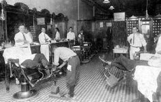 How cool would it be to go to a barbershop, get a shave, haircut and a shoe shine!