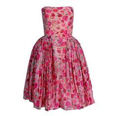 1950's Elizabeth Arden Strapless Dress