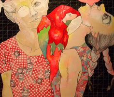 "Saatchi Online Artist: Lena Kramarić; Mixed Media, 2012, Painting ""But where is the dog?"" #art"