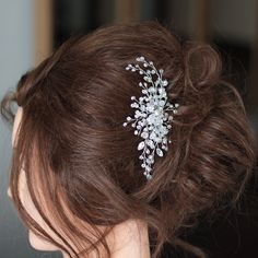 Bridal Hair Comb Wedding Hair CombCrystal Bridal by SvetloDesign