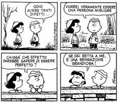 Peanuts Snoopy, Peanuts Comics, Peanuts Quotes, Brown Co, Lucy Van Pelt, Italian Language, Funny Images, A Good Man, Charlie Brown