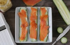 Cucumber Salmon Roll Ups @paleomg