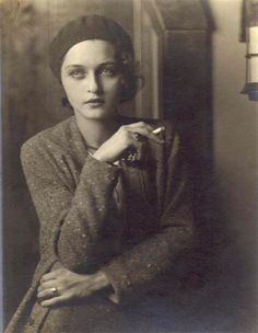 Corinne Michael West (1908 - 1991) was an Abstract Expressionist painter, poet, actress, and writer. Photographed by Jon Boris, 1930.
