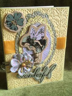 Card handmade fairy words wonderful by buttonsandbottles on Etsy