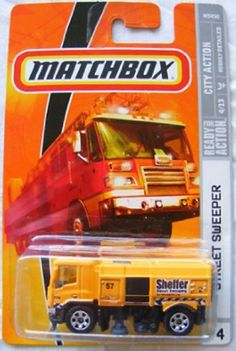 Matchbox 2009 Street Sweeper # 44, City Action, 1:64 Scale. by Mattel. $1.98. 1:64 Scale Die Cast. Ages 3 and Up. Highly Detailed. Matchbox 2009 Street Sweeper # 44, City Action, 1:64 Scale Collectible Die Cast Car