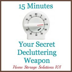 15 minutes, your secret decluttering weapon - monthly calendars with a challenge for each day