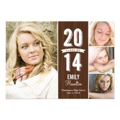 Awesome Year Graduation Announcement - Wooden, #graduation #AwesomeProducts