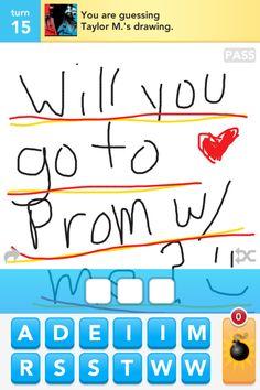 prom invite via draw something