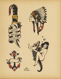 Old School tattoo flash