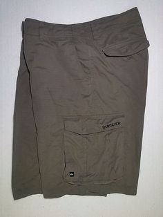 Quiksilver Tactical Military Green Hybrid Boardshorts Mens 34 Cargo Shorts 2993 #Quiksilver #CargoShorts