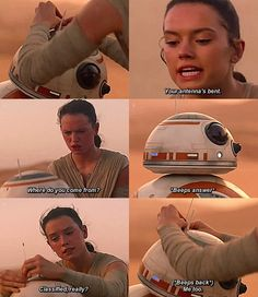 My Rey of sunshine and my rolling meatball of sass.<--that caption XD