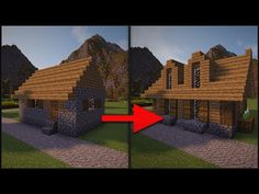 Minecraft: How To Remodel A Village - Part 3 (Large House) - YouTube