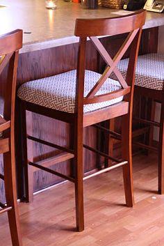 Kitchen Bar Stools Upholstered Tutorial