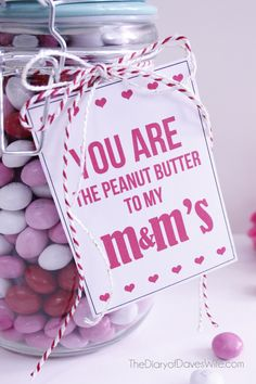 Peanut Butter M&M Valentine with Printable