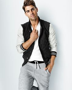 The GQ for Gap Best New Menswear Designers in America 2014 Collection - John Elliott + Co quilted baseball jacket, $200