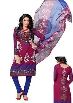 Unstitched Salwar Material Synthetic Churidar Dress Sari 1002 | eBay