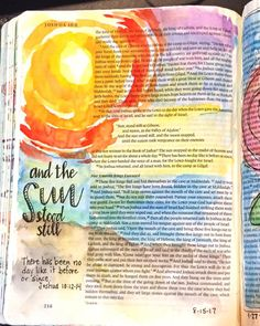Joshua Bible art journaling by Art Journaling, Bible Journaling For Beginners, Bible Study Journal, Scripture Study, Bible Art, Bible Drawing, Bible Doodling, Joshua Bible, Bibel Journal