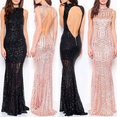 Rose Gold Bridesmaid Dress Long Evening Gown Prom Black Pageant Dress