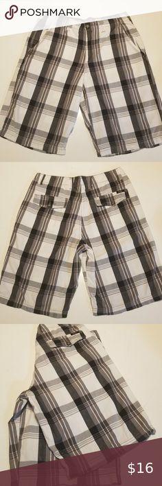 16-18 Pass Plum Heather Purple New Womens Knit Shorts front Pockets size XL