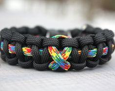 Custom Autism Awareness Paracord Bracelet - Survival Bracelet - 550 Paracord - Awareness Ribbon - Handmade