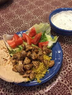 NYC Halal-Cart Style Chicken and Rice with White Sauce #food