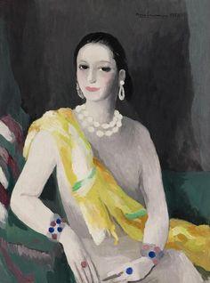 Helena Rubinstein, 1934, by Marie Laurencin (French, 1883 - 1956)