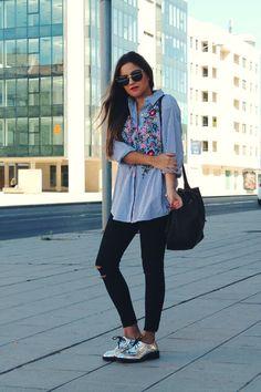 Resultado de imagen para silver oxford platform shoes outfit #oxfordshoesoutfit