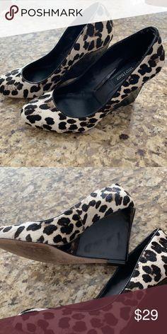 e4d2110c6ea WHBM wedges sz 9 calf High wedge exc condition White House Black Market  Shoes Wedges