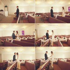 church first look Wedding Photography Poses, Wedding Poses, Wedding First Look, Photo Ideas, Photos, Inspiration, Alternative, Shots Ideas, Biblical Inspiration