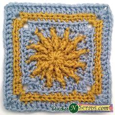 Sunshine square  - Free Crochet Pattern
