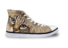 Cute Cat Printing High-top Canvas Shoes